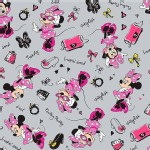 Character Prints - Mickey - Minnie Fashionista Toss in Gray