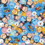Character Prints - Mickey - Tsum Tsum Packed Logo in Blue