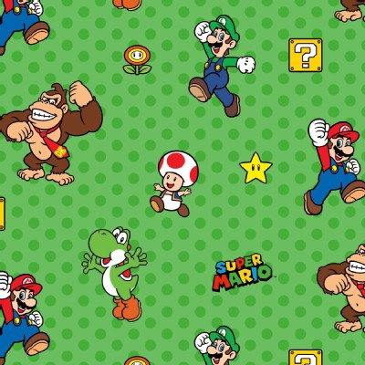 Character Prints - Nintendo - Super Mario Characters in Green