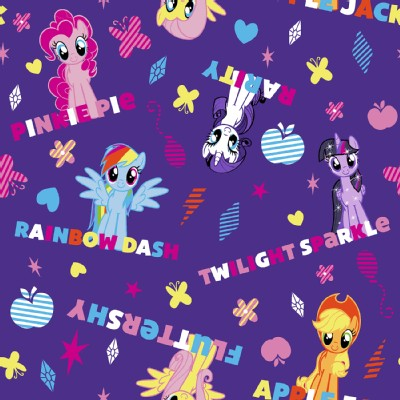 Character Prints - Other Characters - My Little Pony - Names in Purple