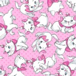 Character Prints - Other Characters - Aristocats - Many Faces of Marie in Pink
