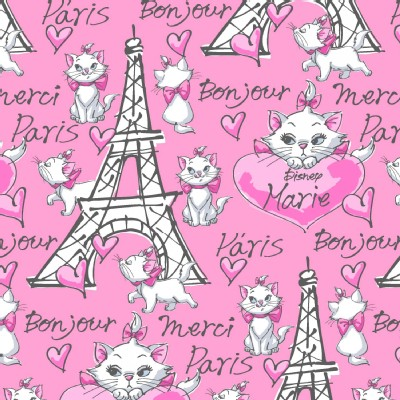 Character Prints - Other Characters - Aristrocats - Merci Paris in Pink