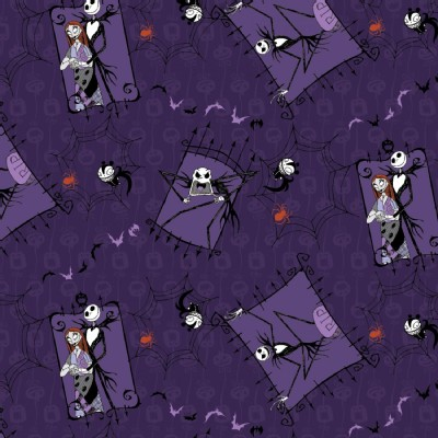 Character Prints - Other Characters - Nightmare Before Christmas Couple in Purple