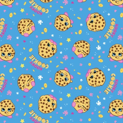 Character Prints - Other Characters - KNIT - Shopkins Kooky Cookie in Blue