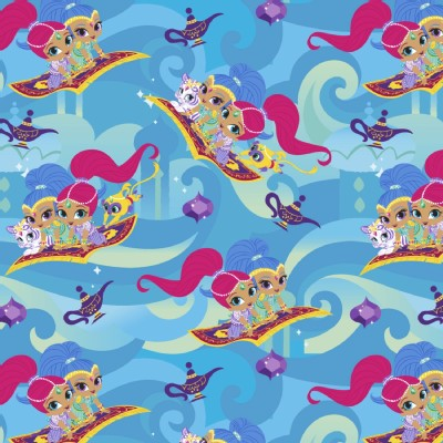 Character Prints - Other Characters - Shimmer and Shine Friends in Blue