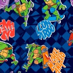 Character Prints - Other Characters - TMNT Skating in Navy
