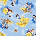 Character Prints - Princess - Snow White Animals in Blue
