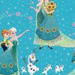 Character Prints - Princess - Frozen Sisters and Olaf in Teal