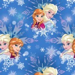 Character Prints - Princess - Frozen Winter Magic Snowflake in Blue