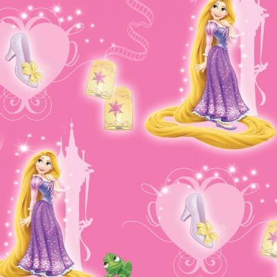 Character Prints - Princess - Rapunzel and Slipper in Pink