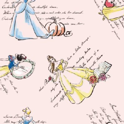 Character Prints - Princess - Fashionable Princesses in Light Pink