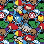 Character Prints - Super Heroes - Marvel Avengers Kawaii in Blue
