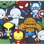 Character Prints - Super Heroes - Kawaii Packed Characters in Black