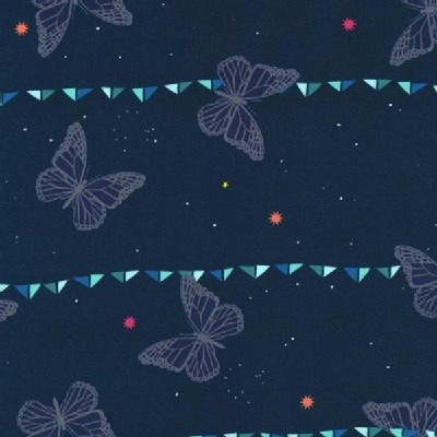 Cotton And Steel - Moonlit - Moonlit Butterflies in Navy