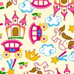 David Textiles - Fantasy World - Unicorn in Cream