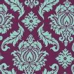 Free Spirit - Aviary 2 - Damask in Plum