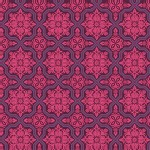 Free Spirit - Heirloom - Tile Flourish in Garnet