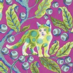Free Spirit - Tabby Road - Disco Kitty in Berry Bird