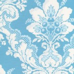 Free Spirit - Tea Cakes - Faded Wallpaper in Blue Eyes