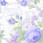 Lakehouse Drygoods - Sausalito Cottage - Baby Floral in Perwinkle