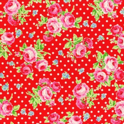 Lecien - Flower Sugar 2013 - Main - Dots in Red