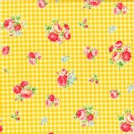 Lecien - Flower Sugar 2013 - Checkers in Yellow