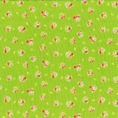 Lecien - Flower Sugar 2013 - Small Roses in Green