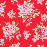 Lecien - Flower Sugar 2013 Fall - Main - Floral in Red