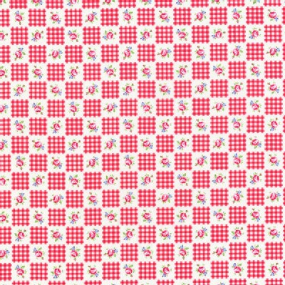 Lecien - Flower Sugar 2013 Fall - Small Checkers in Red