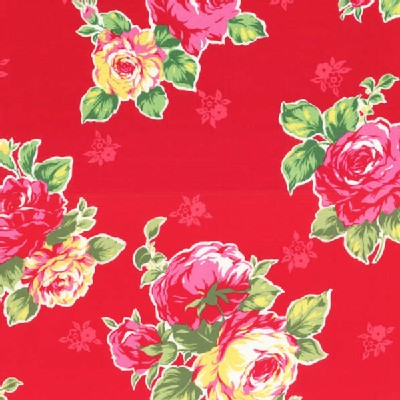 Lecien - Flower Sugar 2014 - Large Floral Bouquet in Red