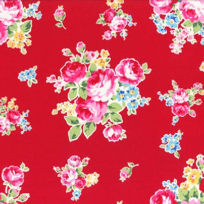Lecien - Flower Sugar 2014 - Medium Floral Bouquet in Red