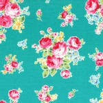 Lecien - Flower Sugar 2014 - Medium Floral Bouquet in Teal