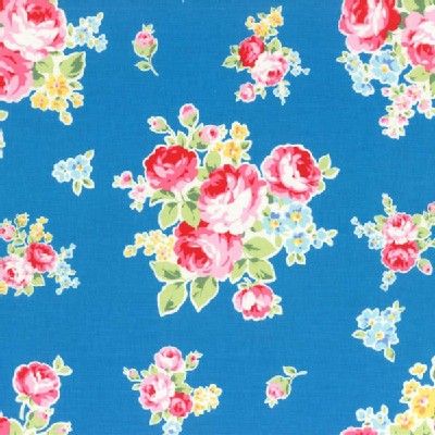 Lecien - Flower Sugar 2014 - Medium Floral Bouquet in Blue