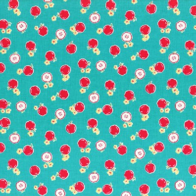 Lecien - Flower Sugar 2014 - Small Apples in Teal