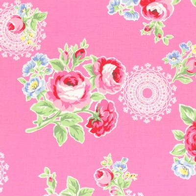 Lecien - Flower Sugar 2014 Fall - Main Floral Bouquet in Pink