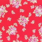 Lecien - Flower Sugar 2014 Fall - Med Florals in Red