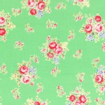Lecien - Flower Sugar 2014 Fall - Med Florals in Green