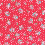 Lecien - Flower Sugar 2014 Fall - Small Florals in Red