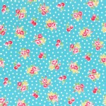 Lecien - Flower Sugar 2014 Fall - Small Florals in Aqua