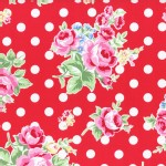 Lecien - Flower Sugar 2015 Fall - Main Floral Dots in Red