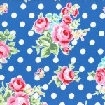 Lecien - Flower Sugar 2015 Fall - Main Floral Dots in Blue