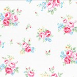 Lecien - Flower Sugar 2015 Fall - Floral Toss in White