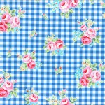 Lecien - Flower Sugar 2015 Fall - Floral Checkers in Blue