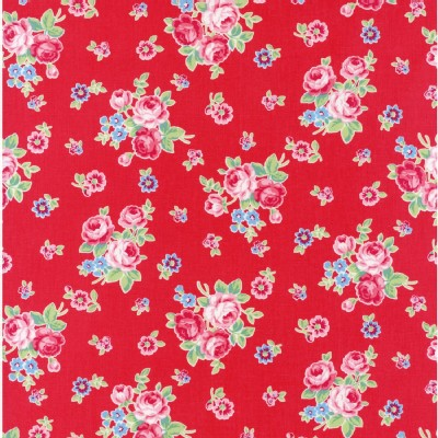 Lecien - Flower Sugar Rose Kiss - Floral Toss in Red