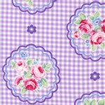 Lecien - Flower Sugar Rose Kiss - Checkered Cameo in Violet
