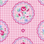 Lecien - Flower Sugar Rose Kiss - Checkered Cameo in Pink