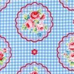 Lecien - Flower Sugar Rose Kiss - Checkered Cameo in Baby Blue