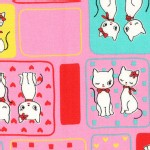 Lecien - Honey Tune - Retro Cute Cats in Pink
