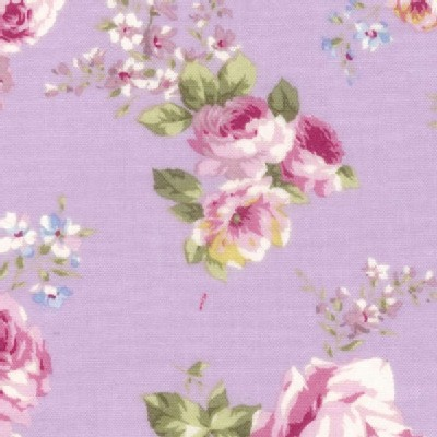 Lecien - Rococo Sweet 2014 - Med Floral Bouquets in Lavender