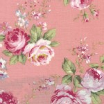 Lecien - Rococo Sweet 2014 - Med Floral Bouquets in Dusk Rose